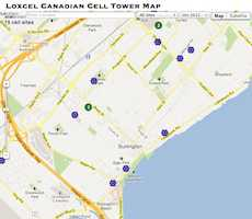 Cell Tower map of Coquitlam, BC