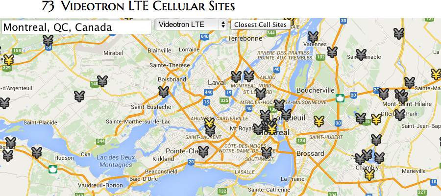 Videotron's 333 cellular sites on Canada Cellular Services