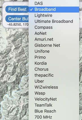 WISP options in New Zealand Cellular Services filter